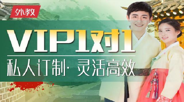 外教VIP一对一韩语课程